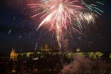 Free Fireworks In Prague Stock Image - 6002161