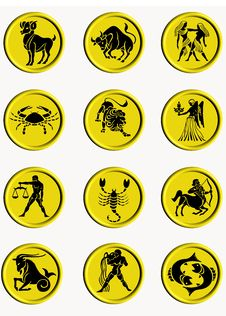 Buttons Zodiac Royalty Free Stock Image