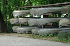 Free Canoes For Rent Stock Photos - 6002403