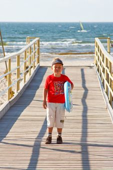 Free Little Boy With A Buoy Stock Photos - 6003023