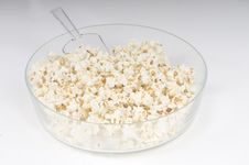 Free Pop Corn In A Glass Recipient Stock Photo - 6003030