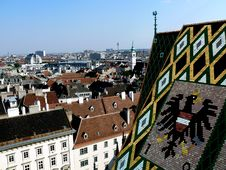 Free Cathedral Roof And Vienna View Royalty Free Stock Photos - 6003098