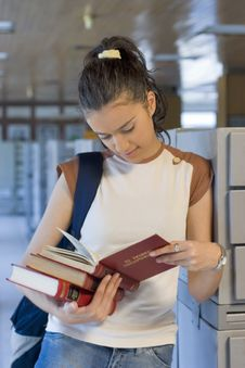 Free Young Beautiful Student In College Stock Photo - 6003230