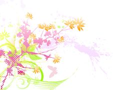 Free Floral Background Royalty Free Stock Photo - 6003245