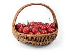 Free Cherries In A Basket Stock Image - 6003301