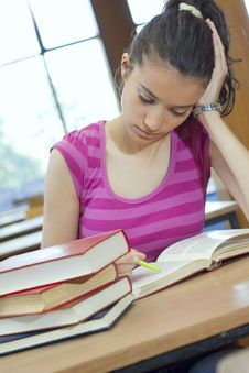 Free Young Beautiful Student In College Stock Photo - 6003350