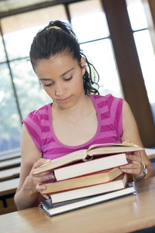 Free Young Beautiful Student In College Stock Photography - 6003402