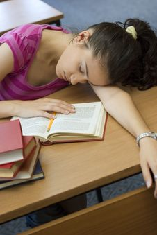 Free Young Beautiful Student In College Royalty Free Stock Image - 6003426
