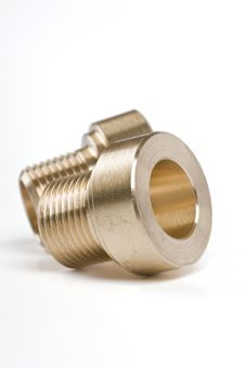 Free Threaded Pipe Fittings Royalty Free Stock Images - 6004429