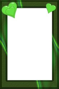 Free Green Stone Valentine Frame Stock Images - 6004554