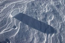 Free Shadows On Snow Stock Image - 6004811