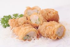 Free Shrimp Roll Royalty Free Stock Images - 6004959