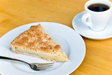 Free Slice Of Apple Cake With Coffee Royalty Free Stock Image - 6005646