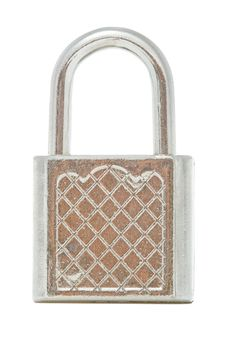 Free Isolated Safety Steel Lock Royalty Free Stock Images - 6005929