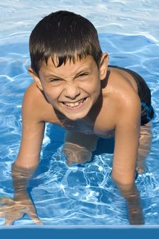 Free Cute Young Boy In Pool Stock Photos - 6005953