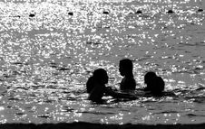 Free Children In The Sea Stock Images - 6006034