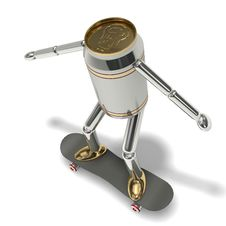 Free Beer Can Skateboarding Stock Photos - 6006113