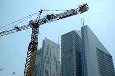 Free Shanghai Under Construction Royalty Free Stock Photo - 6006615