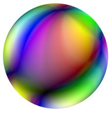 Free Colored Ball. Royalty Free Stock Photos - 6006908