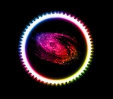 Free Abstract Rainbow Circle And Nebula Stock Image - 6006911