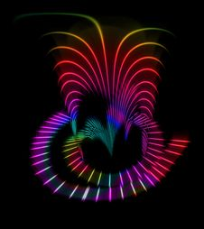 Free Abstract Rainbow Waves Royalty Free Stock Images - 6006949
