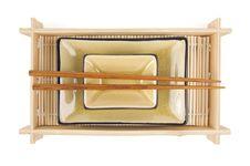 Free Abstract Chopsticks And Bowls Royalty Free Stock Photo - 6007015