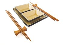 Free Abstract Chopsticks And Bowls Stock Image - 6007021