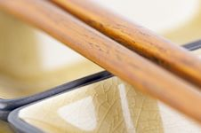 Abstract Chopsticks And Bowls Royalty Free Stock Images