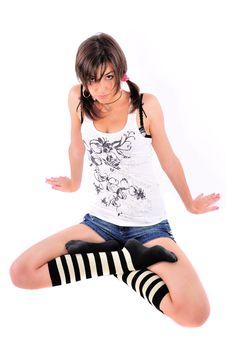 Free Sitting Girl Stock Photo - 6007040