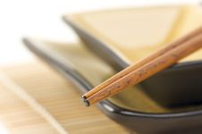 Abstract Chopsticks And Bowls Stock Image