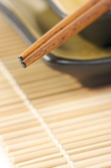 Abstract Chopsticks And Bowls Royalty Free Stock Image