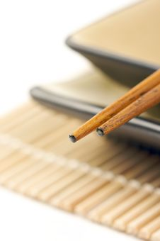 Free Abstract Chopsticks And Bowls Royalty Free Stock Photography - 6007047
