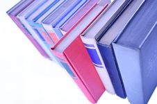Row Of Books Lined Up In Row Stock Photography