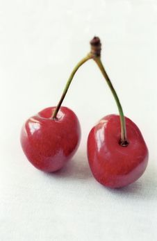 Free Red Cherry In Two Faces Royalty Free Stock Photography - 6007287