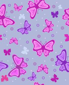 Abstract Background With Butterflies. Vector Illus Royalty Free Stock Photography