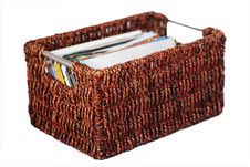 Free Wicker Basket Of Photographs Royalty Free Stock Images - 6007569