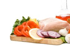 Free Fresh Meat With Vegetables Royalty Free Stock Photos - 6008408