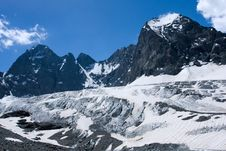 Free Glacier In High Caucasus Mountains Royalty Free Stock Photos - 6008598