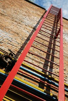 Fire Ladder Stock Photography