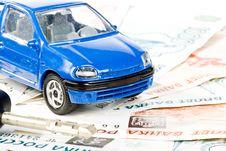 Car, Keys And Money Royalty Free Stock Photos