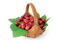 Free Cherries In A Basket Stock Photo - 6009110
