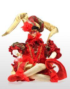Free Red Arlekino Souvenir Royalty Free Stock Photo - 6009385