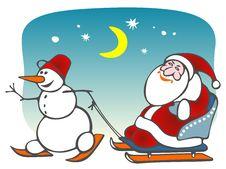 Free Santa And Snowball Royalty Free Stock Images - 6009729