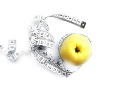 Free Tape Measures And Apple Stock Image - 6009961