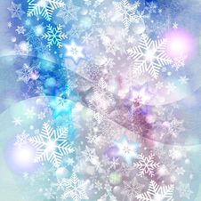 Free Winter Background With Snowflakes Royalty Free Stock Photography - 60075257