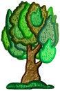 Free Stylized Bitmap Tree Stock Photo - 6011060