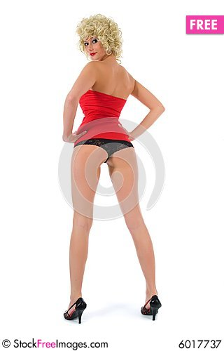 Free Female Buttocks With G-string Royalty Free Stock Photography - 6017737