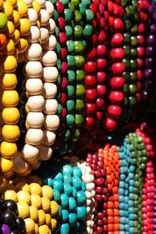 Free Colorful Wooden Beads Stock Images - 6010084