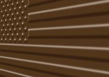 Chocolate USA Flag Illustration Royalty Free Stock Images