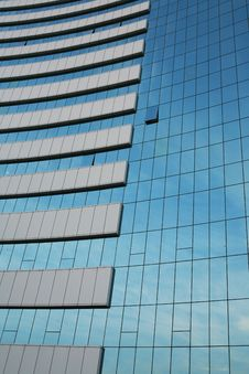 Free Glass Wall Of Business Center Stock Photography - 6010562